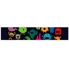 Monsters Colorful Drawing Flano Scarf (large)