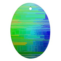 Colors Rainbow Pattern Ornament (oval)