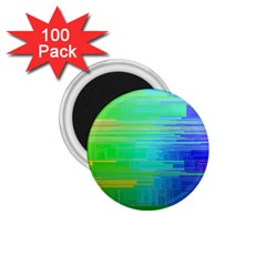 Colors Rainbow Pattern 1 75  Magnets (100 Pack)