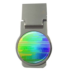 Colors Rainbow Pattern Money Clips (round)