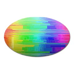 Colors Rainbow Pattern Oval Magnet
