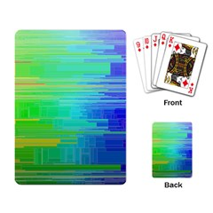 Colors Rainbow Pattern Playing Card