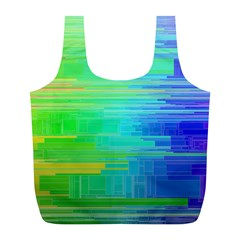 Colors Rainbow Pattern Full Print Recycle Bags (l)