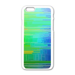 Colors Rainbow Pattern Apple Iphone 6/6s White Enamel Case