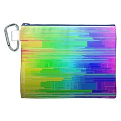 Colors Rainbow Pattern Canvas Cosmetic Bag (xxl)