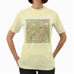 Solved Word Search Name Tag   100 Common Female Names Women s Yellow T Shirt