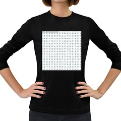 Word Search Name Tag   100 Common Female Names Women s Long Sleeve Dark T Shirts
