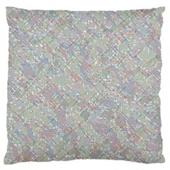 Solved Word Search Containing Animal Related Words Large Flano Cushion Case (two Sides)