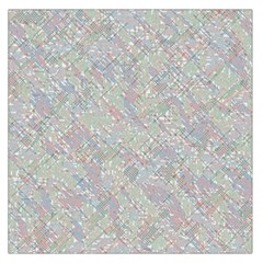 Solved Word Search Containing Animal Related Words Large Satin Scarf (square)