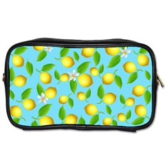 Lemon Pattern Toiletries Bags 2 Side