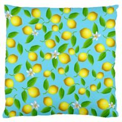 Lemon Pattern Large Flano Cushion Case (two Sides)