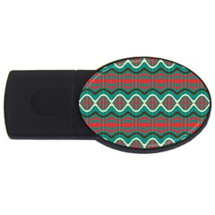 Ethnic Geometric Pattern Usb Flash Drive Oval (2 Gb)