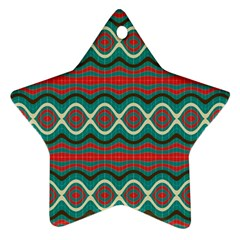 Ethnic Geometric Pattern Star Ornament (two Sides)