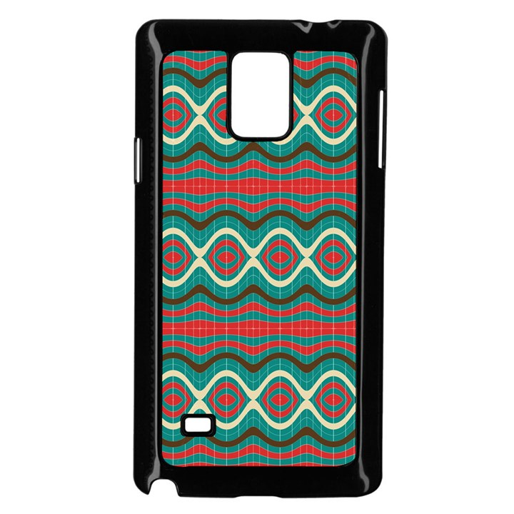 Ethnic Geometric Pattern Samsung Galaxy Note 4 Case (Black)