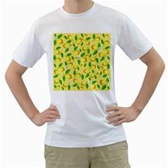 Lemon Pattern Men s T Shirt (white) (two Sided)