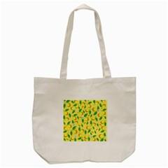 Lemon Pattern Tote Bag (cream)