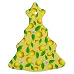 Lemon pattern Christmas Tree Ornament (Two Sides) Front