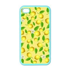 Lemon Pattern Apple Iphone 4 Case (color)
