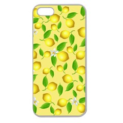 Lemon Pattern Apple Seamless Iphone 5 Case (clear)