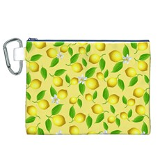 Lemon Pattern Canvas Cosmetic Bag (xl)
