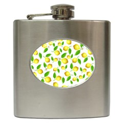 Lemon Pattern Hip Flask (6 Oz)
