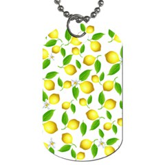 Lemon Pattern Dog Tag (two Sides)