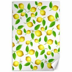 Lemon Pattern Canvas 12  X 18