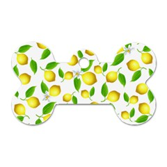 Lemon Pattern Dog Tag Bone (one Side)