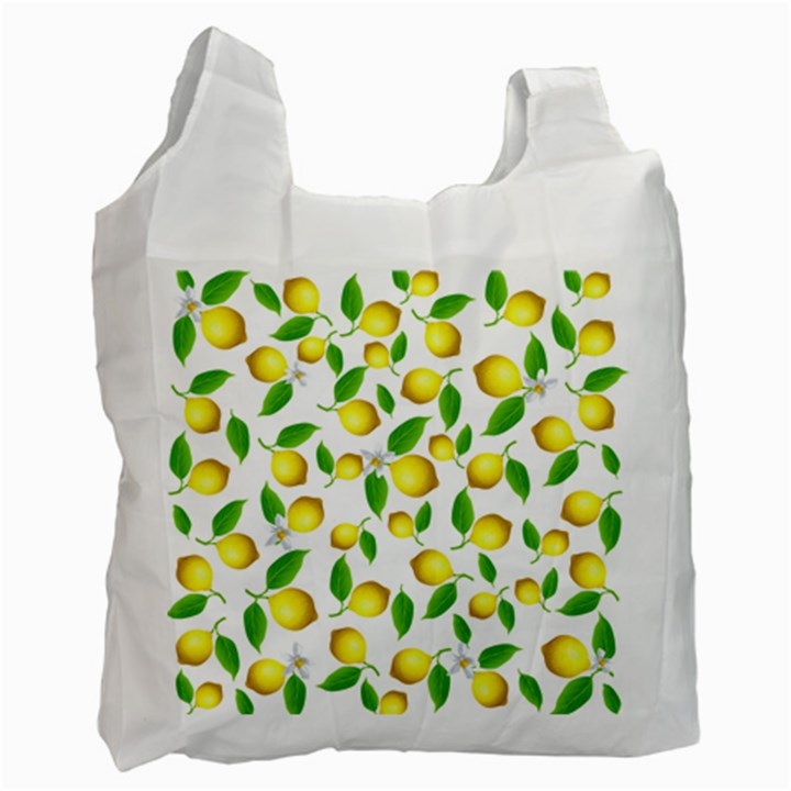 Lemon pattern Recycle Bag (One Side)