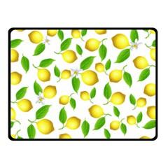 Lemon Pattern Fleece Blanket (small)