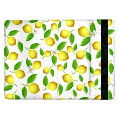 Lemon Pattern Samsung Galaxy Tab Pro 12 2  Flip Case