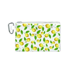 Lemon Pattern Canvas Cosmetic Bag (s)
