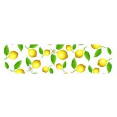Lemon Pattern Satin Scarf (oblong)