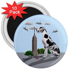Great Dane 3  Magnets (10 Pack)