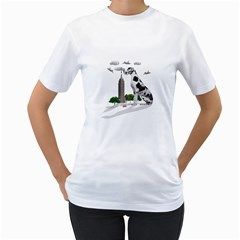 Great Dane Women s T Shirt (white) (two Sided)