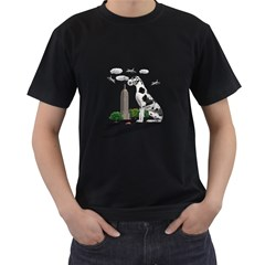 Great Dane Men s T Shirt (black) (two Sided)