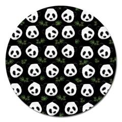 Panda Pattern Magnet 5  (round)
