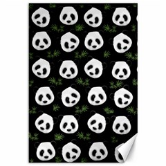 Panda Pattern Canvas 12  X 18