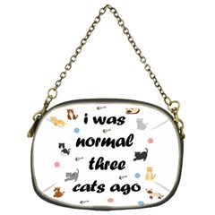 I Was Normal Three Cats Ago Chain Purses (one Side)