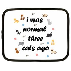 I Was Normal Three Cats Ago Netbook Case (xxl)