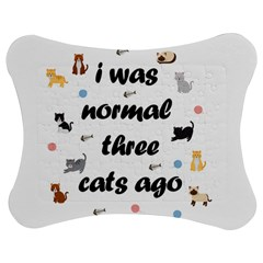 I Was Normal Three Cats Ago Jigsaw Puzzle Photo Stand (bow)