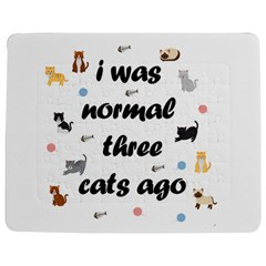 I Was Normal Three Cats Ago Jigsaw Puzzle Photo Stand (rectangular)