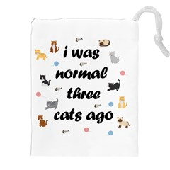 I Was Normal Three Cats Ago Drawstring Pouches (xxl)
