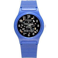 I Was Normal Three Cats Ago Round Plastic Sport Watch (s)