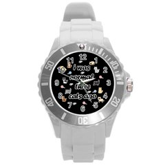 I Was Normal Three Cats Ago Round Plastic Sport Watch (l)