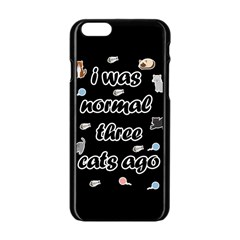I Was Normal Three Cats Ago Apple Iphone 6/6s Black Enamel Case