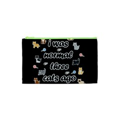 I Was Normal Three Cats Ago Cosmetic Bag (xs)