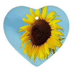 Sunflower Ornament (heart)