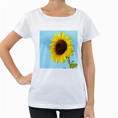 Sunflower Women s Loose Fit T Shirt (white)