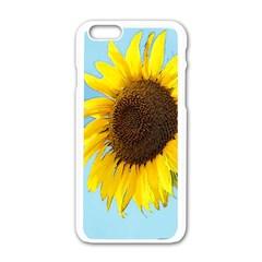 Sunflower Apple Iphone 6/6s White Enamel Case